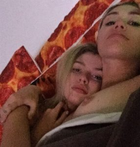 Miley Cyrus in the Bed with girlfriend